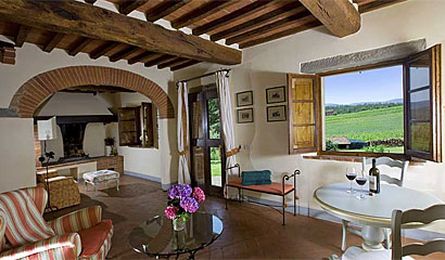 Luxury Apartment Locanda dell'Amorosa - Boutique Hotel Tuscany, Italy