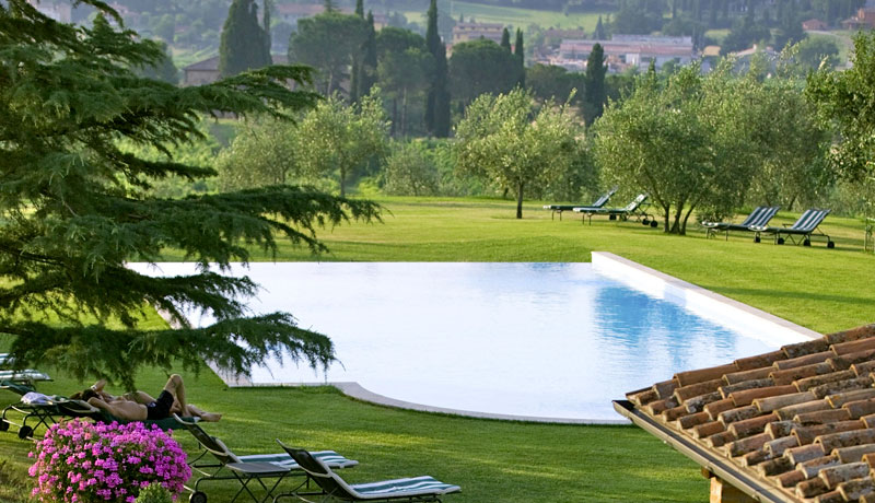 A Swimming Pool Immersed In The Tuscan Countryside Hotel Locanda Amorosa Italy